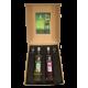 COFFRET CADEAU 2 BOUTEILLES DE LIQUEUR 70CL + 2 VERRES A DIGESTIF